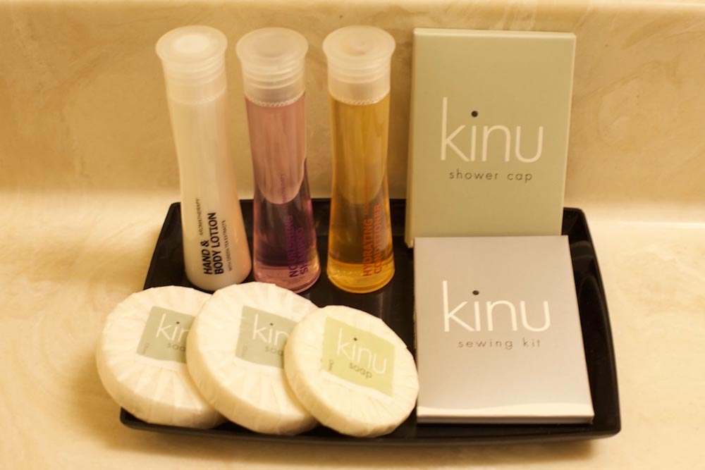 Hotel toiletries, personal care products